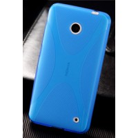 Силиконовый чехол Х для Nokia Lumia 630 Синий