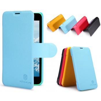 Текстурный чехол флип с дизайнерской застежкой для Nokia Lumia 630/635