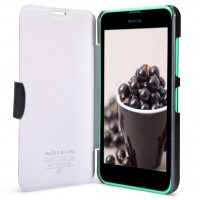 Текстурный чехол флип с дизайнерской застежкой для Nokia Lumia 630/635 Черный