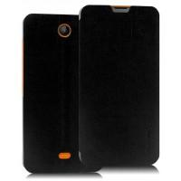 Текстурный чехол флип подставка на присоске для Microsoft Lumia 430 Dual SIM Черный