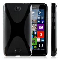 Силиконовый X чехол для Microsoft Lumia 430 Dual SIM Черный