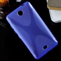 Силиконовый X чехол для Microsoft Lumia 430 Dual SIM Синий