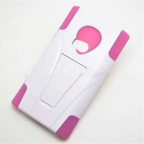 Антиударный силиконовый чехол с поликарбонатной крышкой и ножкой-подставкой для Nokia Lumia 920