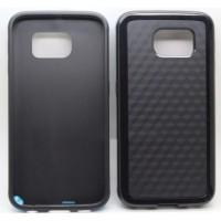 Гибридный силиконовый чехол с поликарбонатной крышкой для Samsung Galaxy S6 Черный