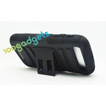 Антиударный поликарбонатный чехол с независимым защитным модулем для экрана на клипсе под ремень и ножкой-подставкой для Blackberry Classic