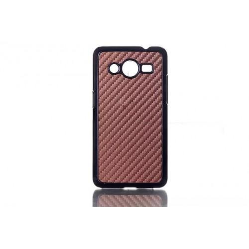 Пластиковый чехол с кожаным текстурным покрытием для Samsung Galaxy Core 2