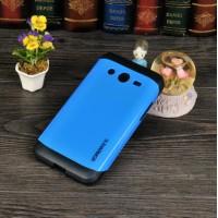 Двухкомпонентный гибридный чехол силикон/поликарбонат для Samsung Galaxy Core 2 Синий