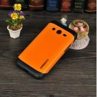 Двухкомпонентный гибридный чехол силикон/поликарбонат для Samsung Galaxy Core 2 Оранжевый