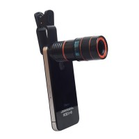 Универсальный 8-кратный объектив-микроскоп с клипсой и крепежом под штатив