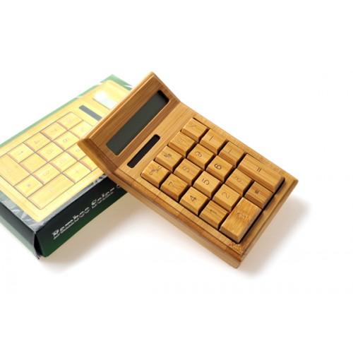 Эксклюзивный деревянный калькулятор с солнечной батареей серия Bamboo