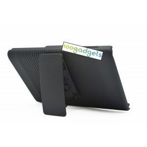 Антиударный поликарбонатный чехол с независимым защитным модулем для экрана на клипсе под ремень и ножкой-подставкой для Blackberry Passport