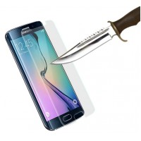 Ультратонкое износоустойчивое сколостойкое олеофобное защитное стекло-пленка на плоскую часть экрана для Samsung Galaxy S6 Edge