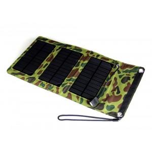 Переносное водоотталкивающее зарядное устройство на солнечной батарее дизайн Камуфляж 5 Вт