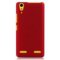 Пластиковый матовый непрозрачный чехол для Lenovo A6000 Красный