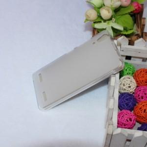 Силиконовый матовый полупрозрачный чехол для Lenovo A6000 Белый