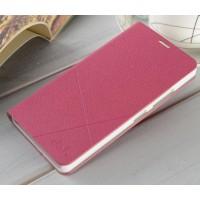 Текстурный чехол флип подставка на пластиковой основе для Lenovo A6000 Розовый