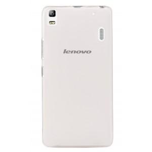 Силиконовый матовый полупрозрачный чехол для Lenovo A7000 Белый