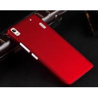 Пластиковый матовый непрозрачный чехол для Lenovo A7000 Красный