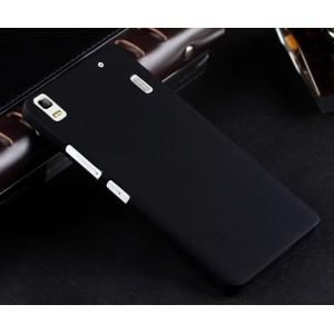 Пластиковый матовый непрозрачный чехол для Lenovo A7000 Черный