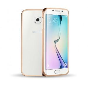 Металлический бампер для Samsung Galaxy S6 Edge Бежевый