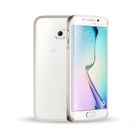 Металлический бампер для Samsung Galaxy S6 Edge Серый