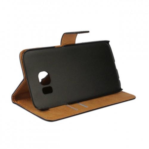Чехол портмоне подставка с магнитной защелкой на пластиковой основе для Samsung Galaxy S6 Edge