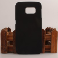 Пластиковый матовый непрозрачный чехол для Samsung Galaxy S6 Edge Черный