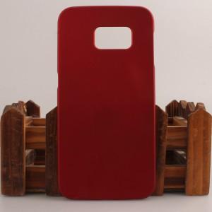 Пластиковый матовый непрозрачный чехол для Samsung Galaxy S6 Edge Красный
