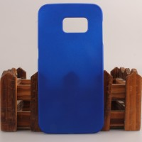 Пластиковый матовый непрозрачный чехол для Samsung Galaxy S6 Edge Синий
