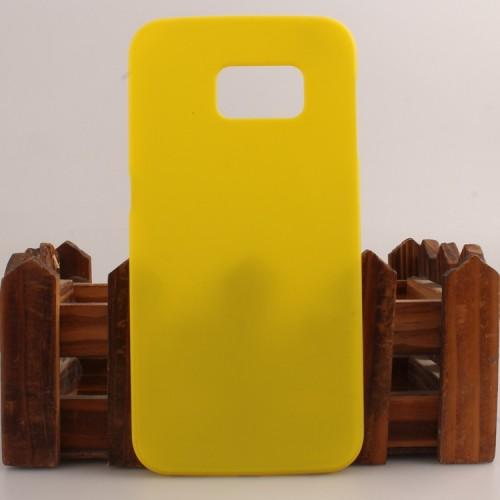 Пластиковый матовый непрозрачный чехол для Samsung Galaxy S6 Edge