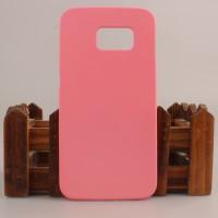 Пластиковый матовый непрозрачный чехол для Samsung Galaxy S6 Edge Розовый