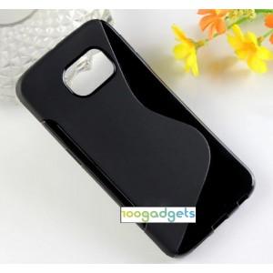 Силиконовый S чехол для Samsung Galaxy S6 Edge Черный