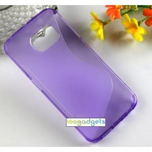 Силиконовый S чехол для Samsung Galaxy S6 Edge Фиолетовый