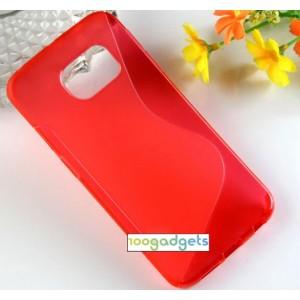 Силиконовый S чехол для Samsung Galaxy S6 Edge Красный