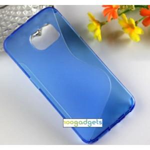 Силиконовый S чехол для Samsung Galaxy S6 Edge Синий