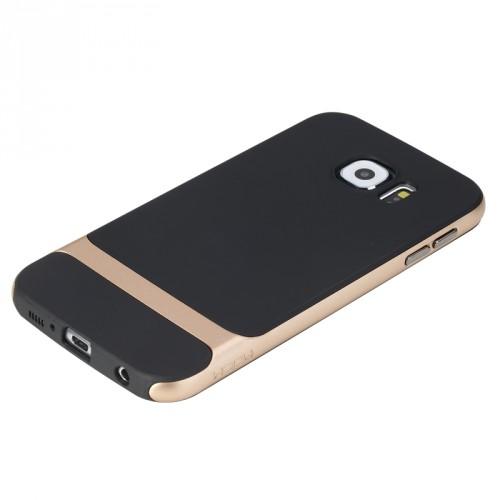 Двухкомпонентный антиударный гибридный чехол силикон/поликарбонат для Samsung Galaxy S6