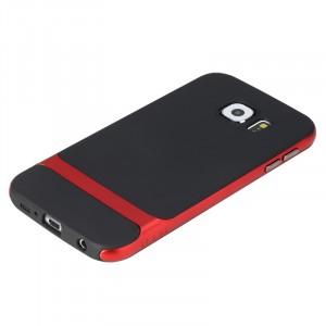 Двухкомпонентный антиударный гибридный чехол силикон/поликарбонат для Samsung Galaxy S6 Красный