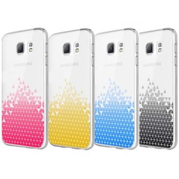 Пластиковый транспарентный экстратонкий премиум чехол с градиентным принтом для Samsung Galaxy S6