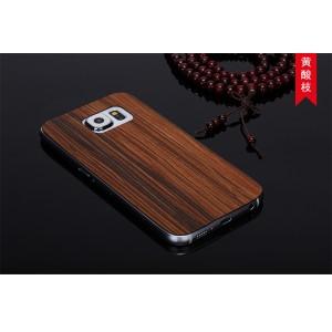 Ультратонкая 0.7 мм деревянная клеевая накладка из пород ореха и бамбука для Samsung Galaxy S6 Коричневый