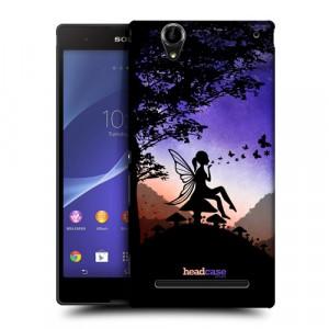 Пластиковый матовый дизайнерский чехол с эксклюзивной серией принтов DarkPhone для Sony Xperia T2 Ultra (Dual) (изготовление на заказ)