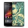 Пластиковый чехол с принтом для Sony Xperia M бабочки