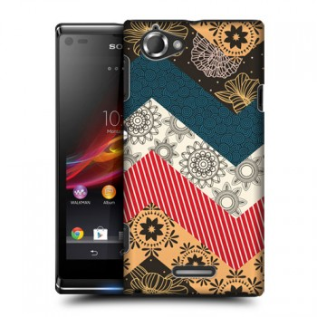 Пластиковый матовый дизайнерский чехол с эксклюзивной серией принтов Star Alliance для Sony Xperia L (изготовление на заказ)