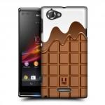 Пластиковый матовый дизайнерский чехол с эксклюзивной серией принтов ChokoPhone для Sony Xperia L (изготовление на заказ)