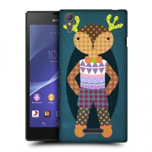 Пластиковый матовый дизайнерский чехол с эксклюзивной серией принтов Fancywork для Sony Xperia T3 (изготовление на заказ)