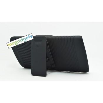 Антиударный поликарбонатный чехол с независимым защитным модулем для экрана на клипсе и ножкой-подставкой  для LG G3 (Dual-LTE)
