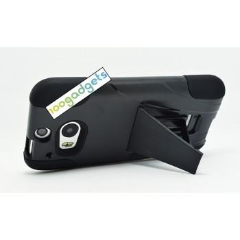 Антиударный силиконовый чехол с поликарбонатной крышкой и ножкой-подставкой для HTC One (M8)