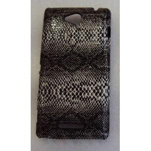 Эксклюзивный пластиковый дизайнерский чехол с аппликацией ручной работы серия Природа для Sony Xperia C