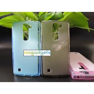 Силиконовый матовый полупрозрачный чехол для LG Magna