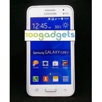 Гибридный транспарентный флуоресцентный чехол силикон/поликарбонат для Samsung Galaxy Core 2 Белый