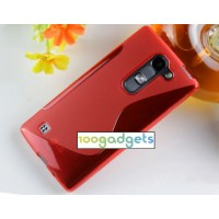 Силиконовый S чехол для LG Spirit Красный